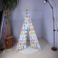 abc housing - Oversized cotton canvas Indian ABC alphabet game house tent toys for children