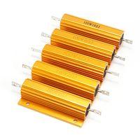 Wholesale High quality R R R R R Ohm W Watt Wirewound Aluminum Power Metal Shell Case Resistance Resistor