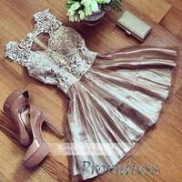 arts parts - Mini Homecoming dress Breaktaking Lace Spaghetti taffeta Special occasion part dress prom cocktial Dresses Z271