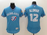 Wholesale 2016 New MLB Toronto Blue Jays Jerseys Roberto Alomar Light Blue Flexbase Collection Baseball Jerseys Stitched Free Drop Shipping