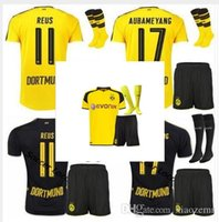 Wholesale Mixed Team DHL Dortmund kit socks Jersey REUS PULISIC DEMBELE AUBAMEYANG M GOTZE RUGBY JERSEYS HOME AWAY KITS