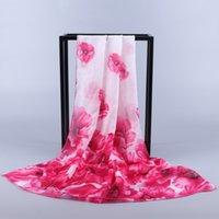Wholesale 2016 High grade New Trade Female Scarf Shawl Scarves Female Flower Scarf Chiffon Beach Towel Hot
