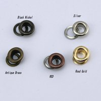 Wholesale 300set MM mm mm Rose Gold color copper Garment accessories metal eyelets buttons clothes accessory handbag findings