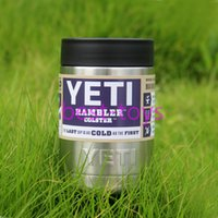 Wholesale 12 oz Yeti Can Vacuum Insulated Rambler Colster Insulated Cup Mug Drink Holder Insulated Koozie Stainless Steel