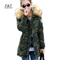 Wholesale new women winter coat wadded jacket medium long plus size XL Parka fur collar thickening hood abrigos female snow wear