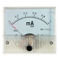 Wholesale White DC mA Analog Amp Meter Measurement Ammeter Current Panel With Screws New Arrival High Quality