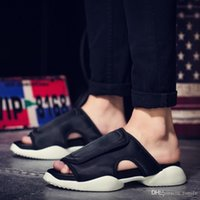 Wholesale New arrival Summer RO Rick magic thick bottom cool slippers Hook Loop sandals hommes size