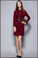 beauty overalls - 2016 Autumn and winter new arrivals commuter OL career temperament ladies full sleeve overalls Slim dress uniforms beauty salons