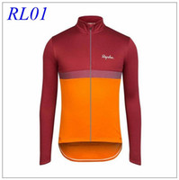 Wholesale Ra Cycling Jerseys Long Sleeve Winter Thermal Fleece Cycling Tops High Elastic Spandex Men cycling Clothes Styles XS XL For Choice