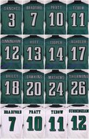 eagles jersey - 2016 Philadelphia football jersey Eagles Soccer rugby jerseys Dawkins Ertz Jenkins Black Green White freeshipping