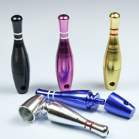 aluminium bowls - 6 Colors Bowling Ball style Metal Smoking Pipe Aluminium Alloy Tobacco pipe Length MM Height MM