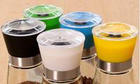 Wholesale Pepper Salt Grinder Glass Cruet Mill Spice Jar Ceramic Core