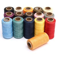 Wholesale Excellent Quality Spool m mm Flat Sewing Coarse Braid Waxed Thread For Leather Craft Repair