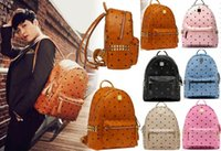 backpack leather purses - Top Selling Men Women Handbags bag Shoulder Bags Purse Wallet Famous Messenger Bags Totes Bag PU Leather Fashion Designer Rivet Backpack