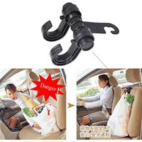 Wholesale Delicate Hot Car Auto Fastener Clip Portable Seat Hanger Purse Bag Organizer Holder Hook Car Double Hook New Dropping Shipping