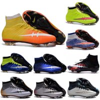 Unisex Football Shoes Rubber newairl boys soccer shoes High Top cheap original soccer cleats for kids youth cr7 soccer shoes indoor men women Superfly FG Football Boots