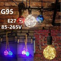 Wholesale Filament Vintage Globe Edison Light Bulb LED Starry String Lights W G95 E27 Bulbs for Home Festival Decoration
