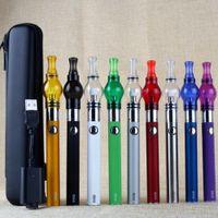 Cheap eGo evod starter kits with EVOD 650 900 1100mah battery wax dry herb glass globe vaporizer atomizer clearomizer tanks vape pens case kit