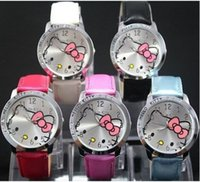 Unisex belts buckles lady - High Quality Quartz Hello Kitty Watch Lady Students Girl Woman Fashion kids Gift Quartz Wrist Watches