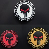 Wholesale Brand New The Punisher Skull High Quality Environmental Protection Rubber PVC Hook Loop Armband Military Tactical Patch