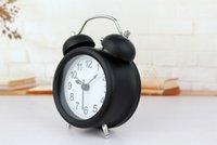 bell calendar - When classic minimalist modern style digital alarm clock bell metal mute nightlights Desktop seat watches