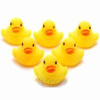Cheap Lot 10Pcs Yellow Baby Children Bath Toys Cute Rubber Squeaky Duck Ducky