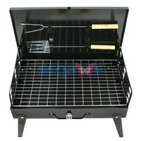 Wholesale Outdoor Cooking Grill Folding Picnic Camping Charcoal BBQ Easily Assembled Garden barbecue Grill Tool