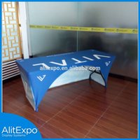 Wholesale Customed full color Dye Sublimation Printed table cloth table cover table throw Cloth table covers Screen Printing or Dye Sublimation Print