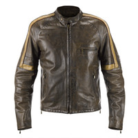 advance knitting - Designer Men leather jackets coffee color advanced soft leather scoop neck slim sport casual jackets customerized body