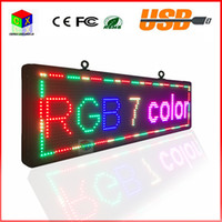 led signs - 21X53 inch high brightness programmable scrolling LED display P13RGB color outdoor LED sign to support any language message