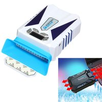 air gear game - White Plastic CoolCold Ice Magic Automatic and Manual Mode Radiator Game Notebook Cool Gear Ultra Silent LCD Screen Cooler Fan
