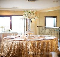 Wholesale Sequins Table Cloth Custom Made High Quality Wedding Decorations Table Skirting Party Birthday Supplies Sequined Table Cloth