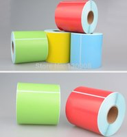 adhesive sticker printer - hot sale self adhesive stickers label roll Coloured Laser Inkjet Printer Label roll pack mm mm