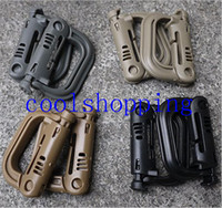 Wholesale Molle Tactical Backpack EDC Shackle Carabiner Snap D Ring Clip KeyRing Locking
