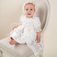 baby boy baptism outfits - Baby Boys Girls Infant Outfit Floor Length Heriloom Dress Dedication Baptism Gown christening gowns With Bonnet