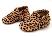 Wholesale genuine leather fringe bow toddler baby moccasins baby shoes