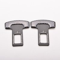 Wholesale 5Pairs Brand New Universal Carbon Fiber Car Safety Seat Belt Buckle Alarm Stopper Clip Clamp