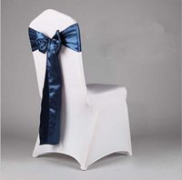 banquet sofa - Fancy colorful satin chairs sash wedding chair sashes banquet chair sashes Bowknot sofa cover ribbon sash