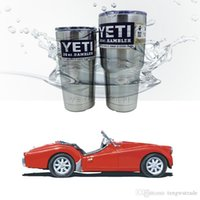 Wholesale Yeti oz Cups Cooler YE Rambler Tumbler Travel Vehicle Beer Mug Double Wall Bilayer Vacuum Insulated Stainless Steel Colorful cups