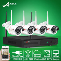 Wholesale Anran Plug and Play Wireless NVR Kit P2P P HD Outdoor IR Night Vision Security IP Camera WIFI CCTV System TB HDD