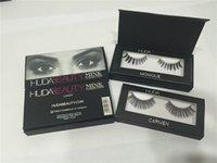 Wholesale Huda Beauty False Eyelashes hair handmade Messy Cross Fake Eye Lashes Professional Makeup False Lashes DHL free