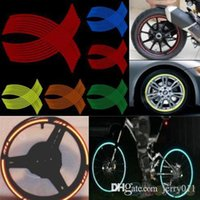 Wholesale 16 Strips DIY Reflective Rim Stripe Tape Bike Motorcycle Car Wheel Sticker