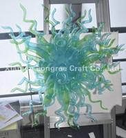 ac pretty - C53 Top Design Pretty Colored Hand Blown Glass Crystal Chandelier Light LED Source AC V V Art Decor Hotel Crystal Pendant Chandelier