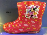 arrival galoshes - Rain Galoshes New Arrival Frozen Rainshoes Baby Gril Boy Rain Galoshes Rain Boot Waterproof Showes Dhl Low Cylinder Rain Shoes