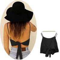 Wholesale Sale Sleeveless Camisole Shirt Sexy Women Summer Casual Blouse Crop Top Newest
