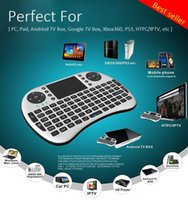 Wholesale Rii I8 Air Mouse Keyboard Mini Wireless GHz English Keyboard Remote Control Touchpad For Android TV Box MXQ Pro T8 M8S