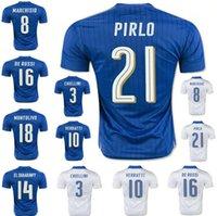 Soccer Men Short 2016 Italy Home blue Soccer jersey 2017 Top Thai quality Italia ZAZA INSIGNE EL SHAARAWY PIRLO VERRATTI MARCHISIO Away white Football shirt