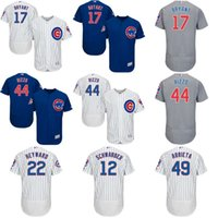 baltimore orioles - Baseball Jerseys Chicago Cubs Kris Bryant Anthony Rizzo Javier Baez Jason Heyward White Blue Grey Flexbase Authentic Jersey
