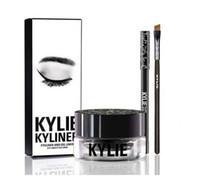Новое прибытие Кайли косметику Дженнер Kyliner В черный / коричневый с Гель Eyeliner горшок кисть Бровь энхансеры DHL Free