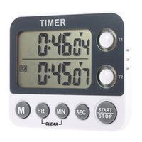 Wholesale 2 Channel LED Digital Kitchen Timer Industrial Laboratory Cooking Timer with Alarm Clock Chronograph Memory Time Max H M S